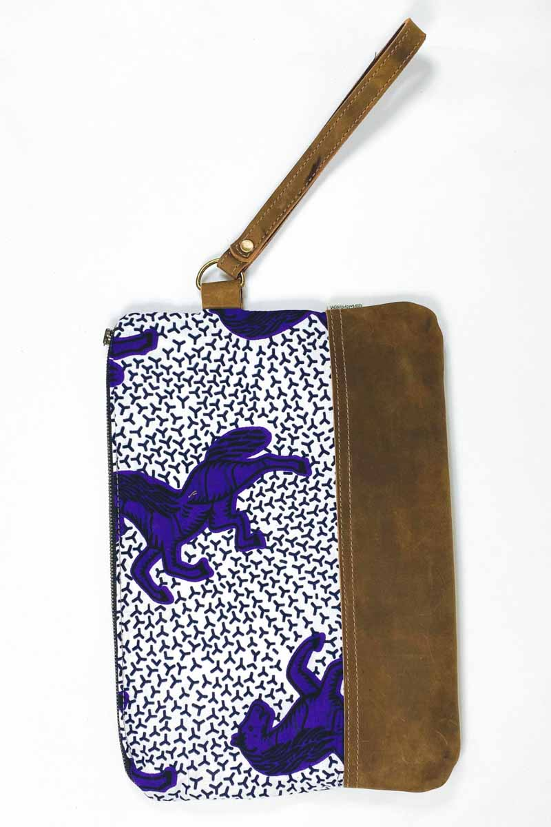 Bepu Jumping Horses Clutch Bag - White/Purple