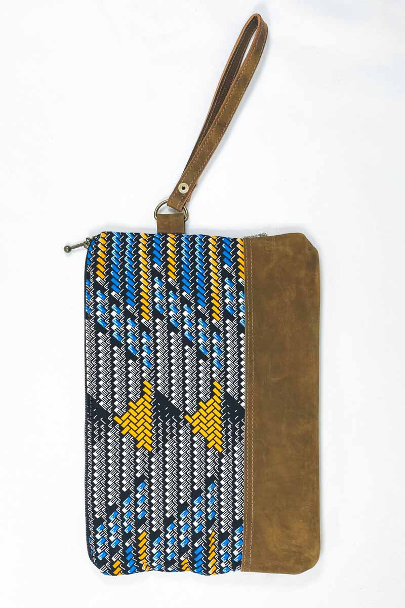 Bepu Maji Clutch Bag - Azure/Blue/Yellow