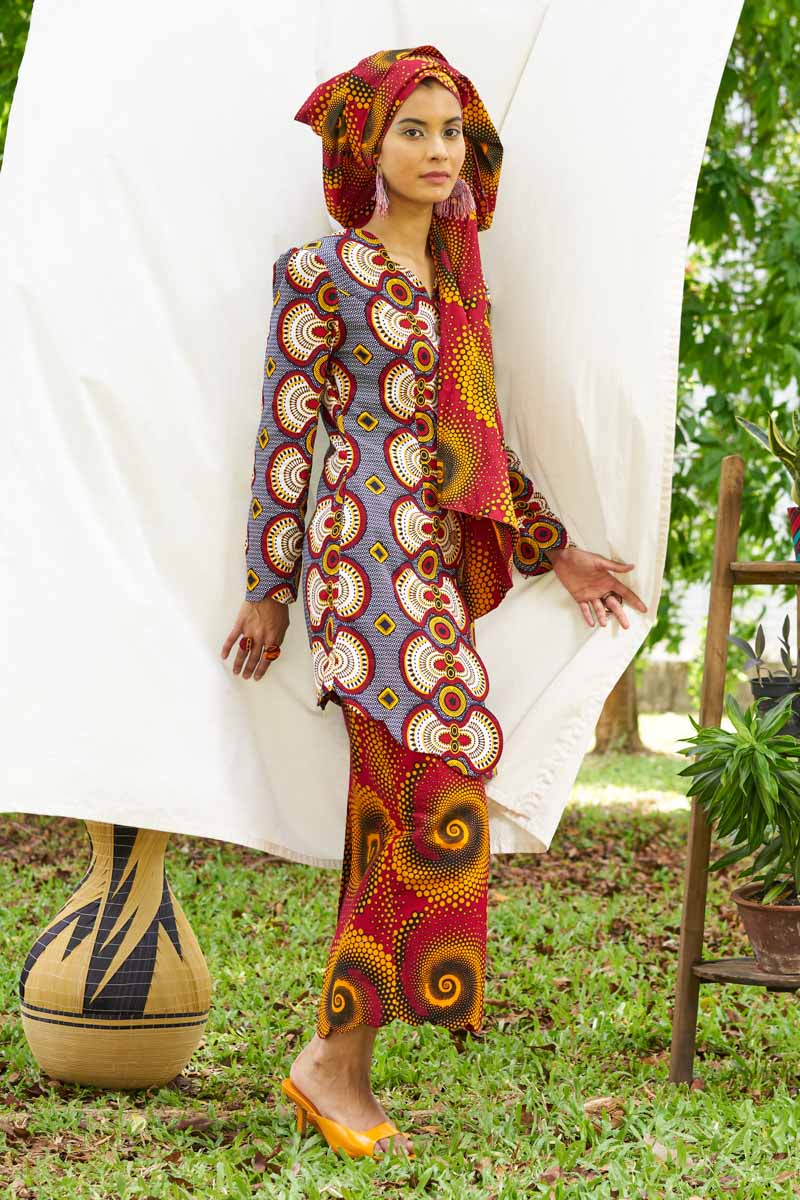 Pre-Order (or Custom-made) Sania Ankara Baju Raya