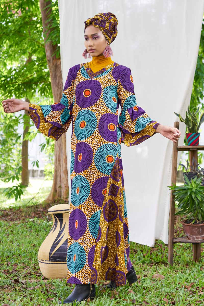 Pre-Order (or Custom-made) Wajiha Ankara Baju Raya