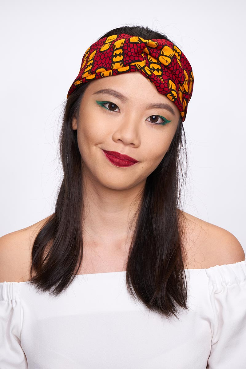 Onyeka Red Turban Headband