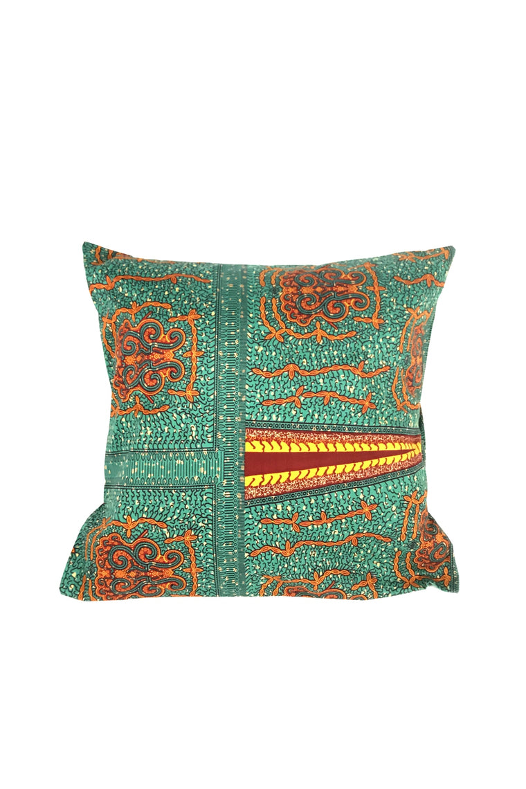 GREEN/RED CUSHION COVER