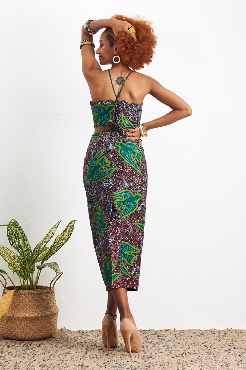 Sade Green Midi Dress