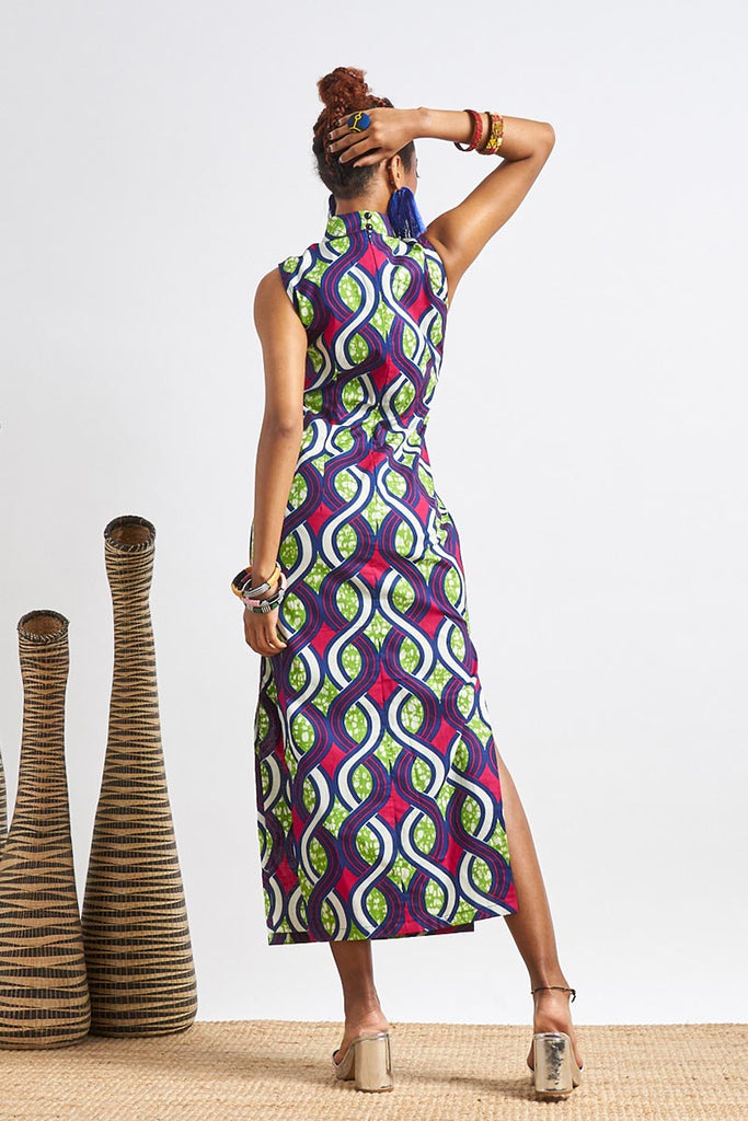 Custom made Sarah Ankara Cheongsam