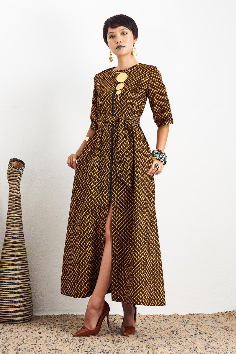 Shanumi Fish Scale Duster Dress