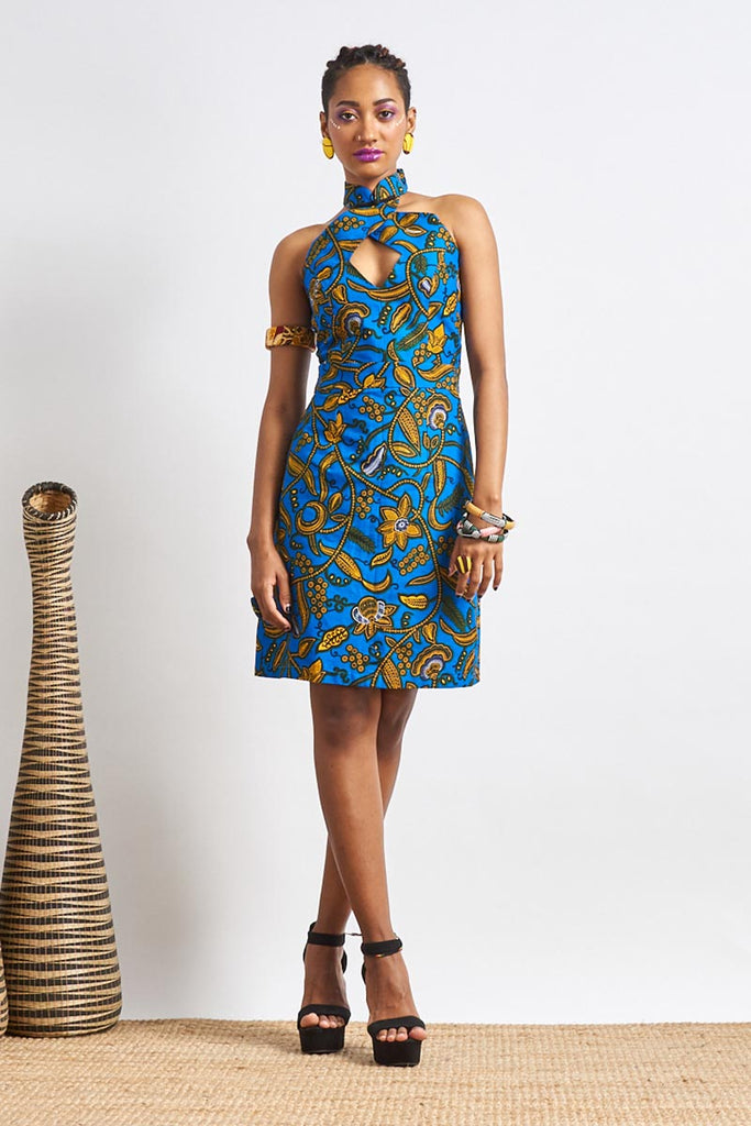 Custom made Sharmaine Ankara Cheongsam