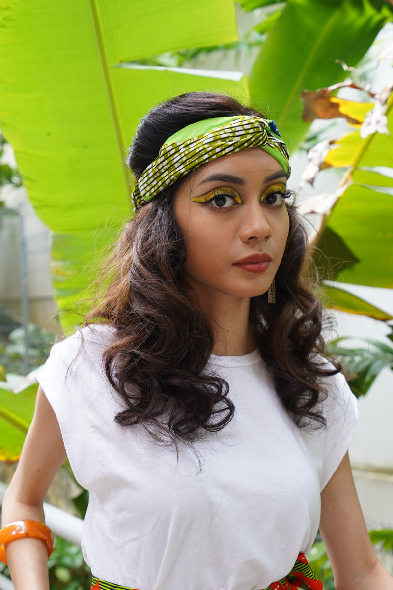 Unathi Turban Headband - Green Speed Bird
