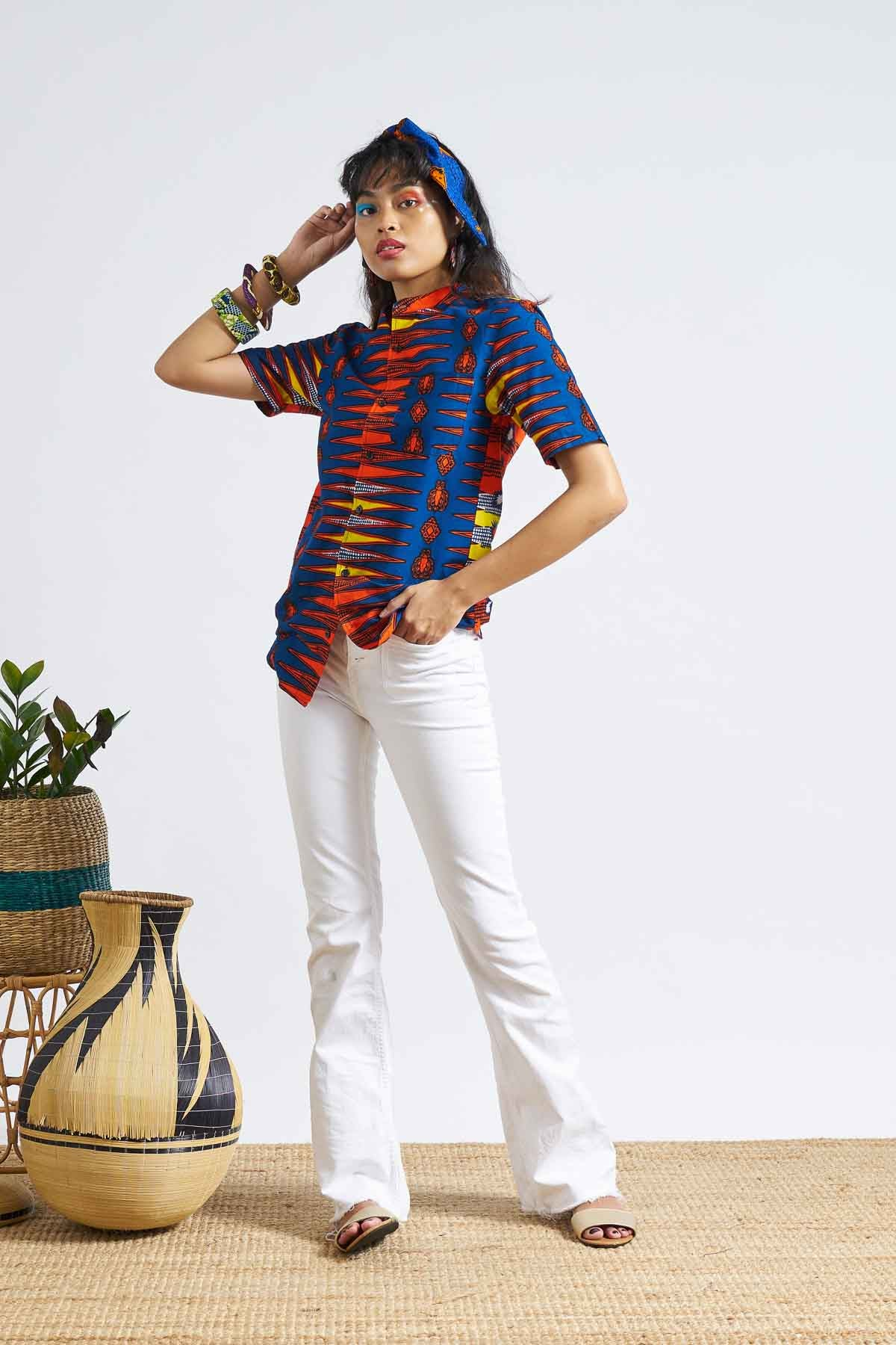 Unathi Unisex Shirt - Red/Yellow/Blue