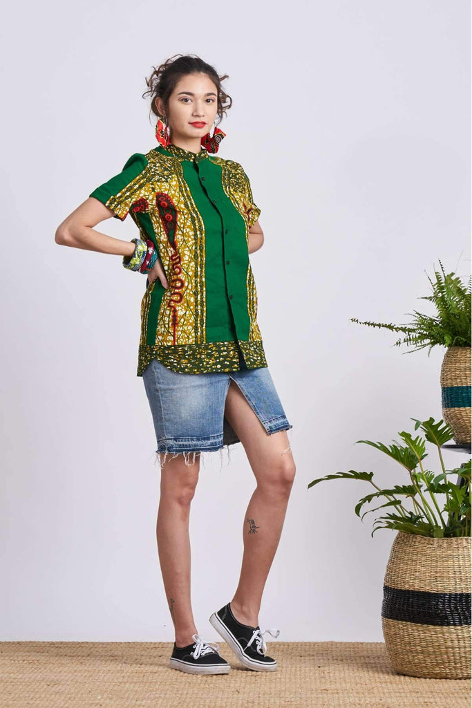 Unathi Green Royal Sceptre Unisex Shirt