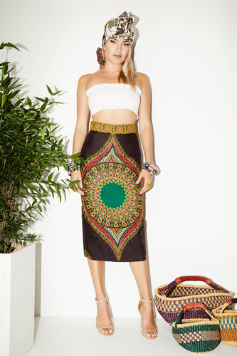 OliveAnkara Capsule Collection ZOYA Pencil Skirt - Front
