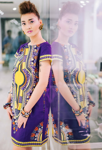 OliveAnkara Enweoke Collection Zinsa Dress - S/purple