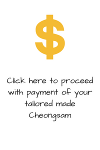 Cheongsam Payment (2 pieces outfit)