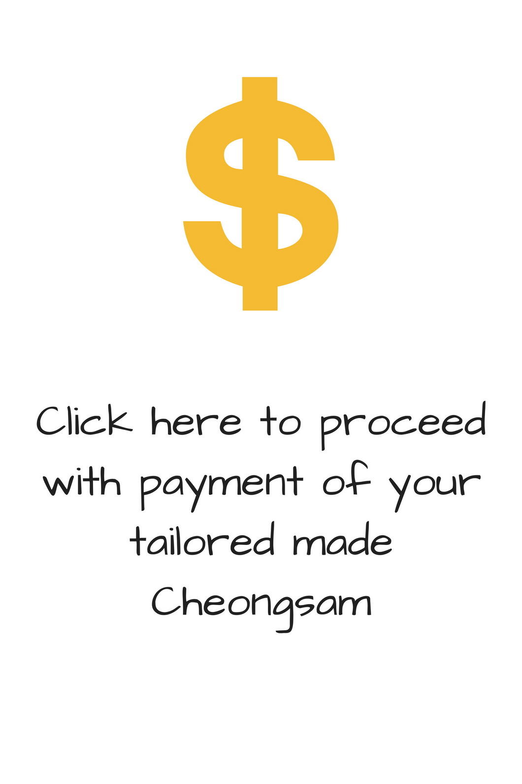 Cheongsam Payment (1 piece outfit - blouse)