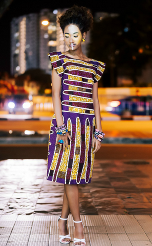 OliveAnkara Enweoke Collection Ife Midi dress