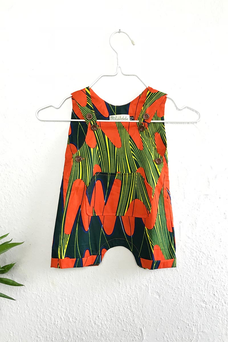Race Romper Orange