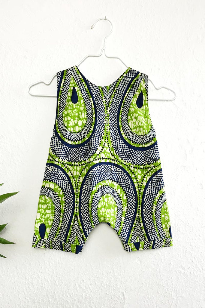Race Romper Green