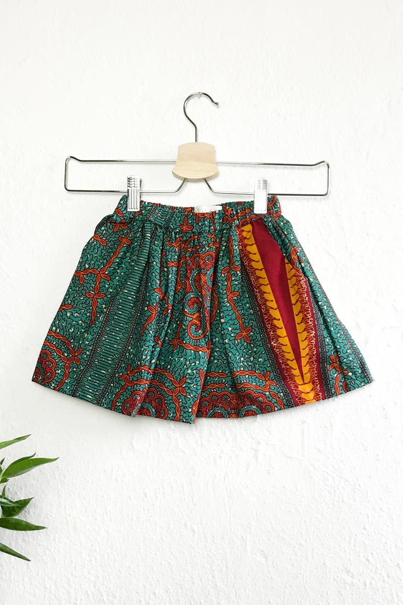 Mira Elasticated Skirt Green