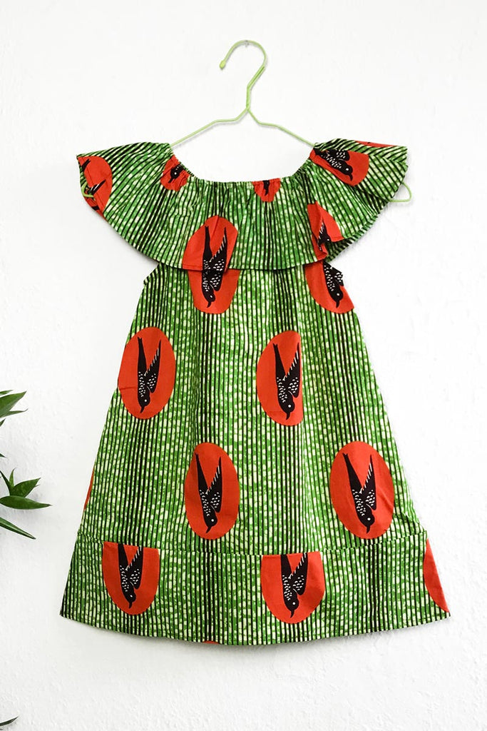 Arya Flutter Dress Green Speedbirds