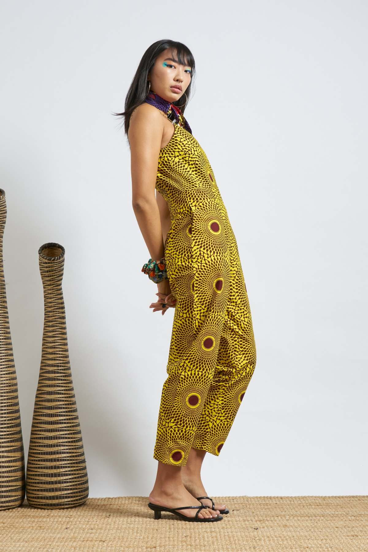 Folashade Jumpsuit - Yellow Water Well