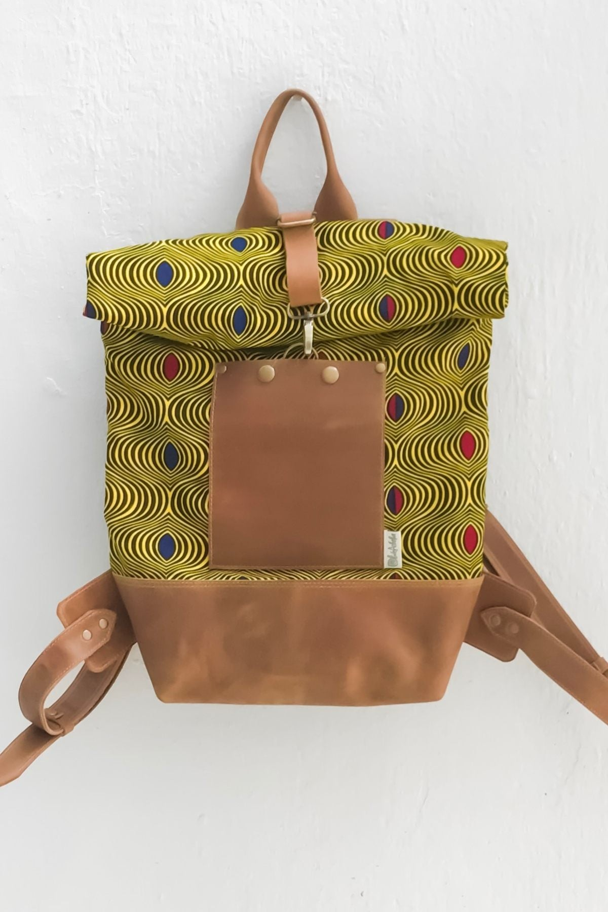 Bepu Gold Munah Rolled Backpack