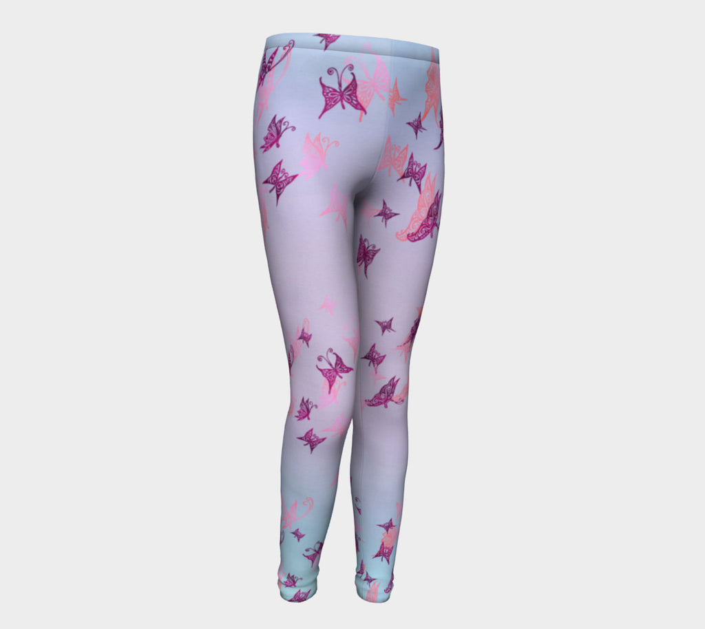2a86ba56120ec LAVENDER BUTTERFLY DAY YOUTH LEGGINGS - What a Great Life!