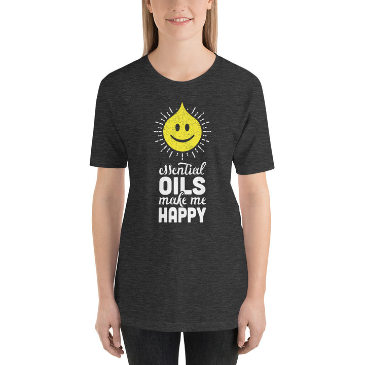 Essential Oils Make Me Happy Custom Tee