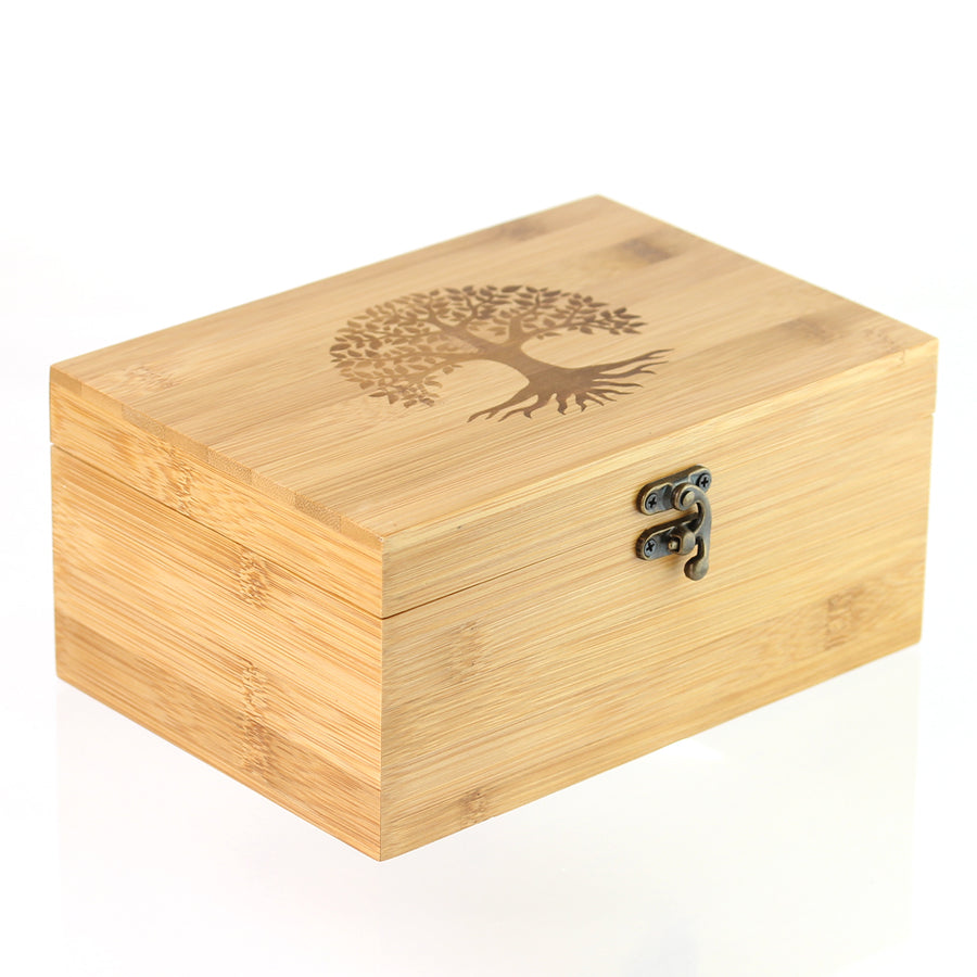 Premium Bamboo Essential Oil Box - Holds 24 Oils