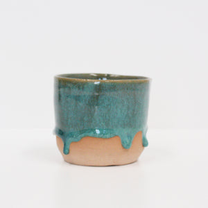Drip Glaze Beakers - Green