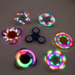 7 colors LED Light Hand Finger Spinner Fidget Plastic EDC Hand Spinner For Autism and ADHD Relief Focus Anxiety Stress Toys Gift