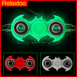 Batman Hand Spinner Luminous Tri Fidget Spinner Glowing Light in Dark Finger Spiner Stress Cube Focus ADHD EDC Anti Stress Toys