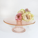 Cake Stand Rose Glass