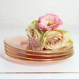Side Plate Rose Glass Set of 2