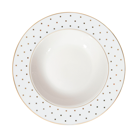 Bowl Gold Polka Dot