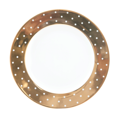 Side Plate Gold Polka Dot