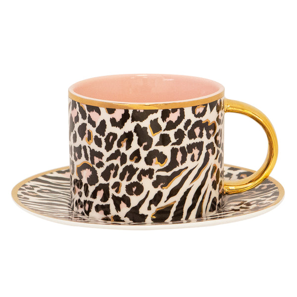 Teacup & Saucer Safari Leopard