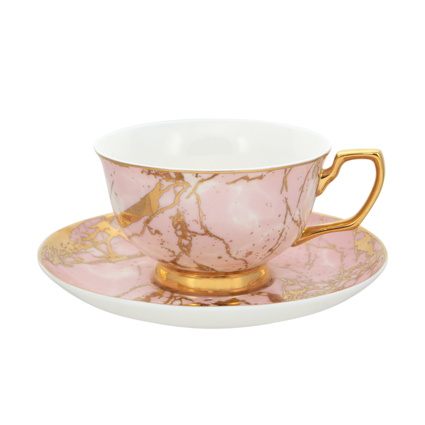 Teacup & Saucer Rose Quartz