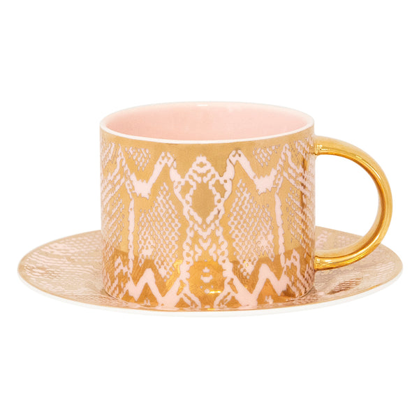 Teacup & Saucer Safari Snakeskin