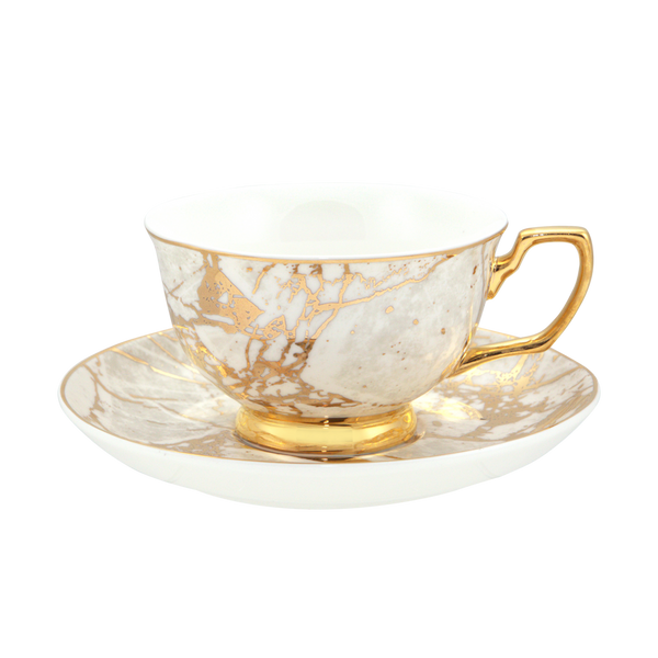 Teacup & Saucer White Celestite