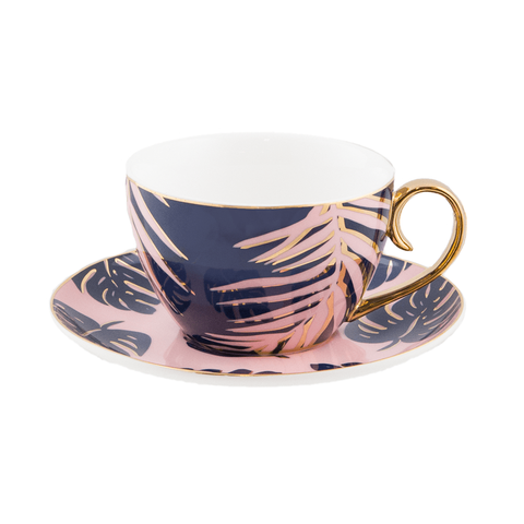 Teacup & Saucer Blue Lagoon