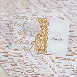 Deco Lace Gold Glitter