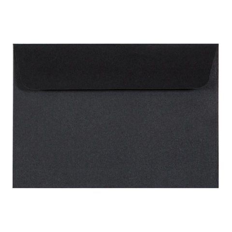 C6 Envelope Linen Ebony (10 pack)
