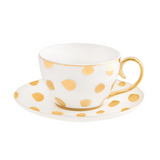 Teacup & Saucer Polka D'Or Ivory