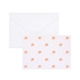 A6 Card and Envelopes Rose Gold XO PK10
