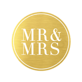Metallic Mr and Mrs Gold