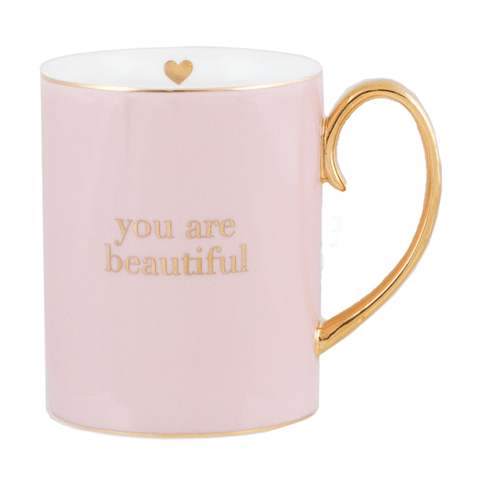 Mug You are Beautiful Blush Contemporary