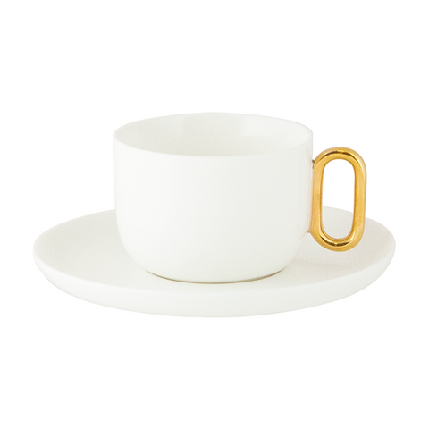 Teacup & Saucer Celine Luxe Ivory