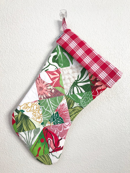 Red Palaka Christmas Stocking (Red & Green)