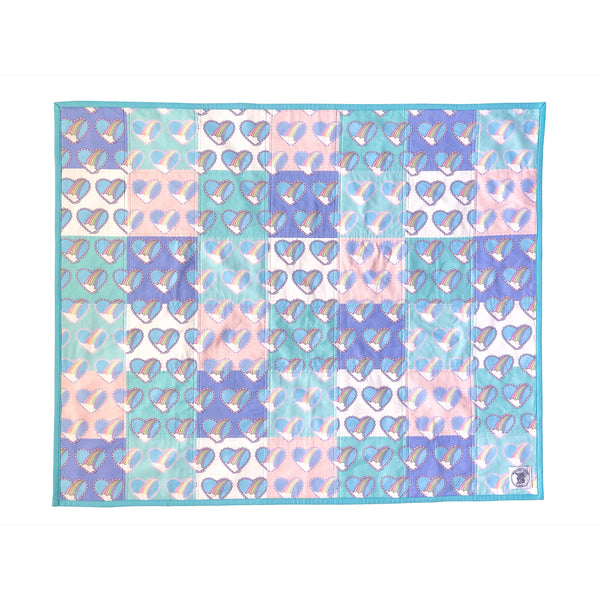 Whole Cloth MSW Rainbow Heart Baby Quilt