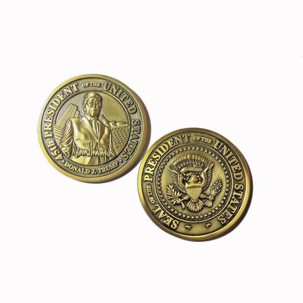 Navy Chiefs for Trump POTUS Train Shaped Challenge Coin