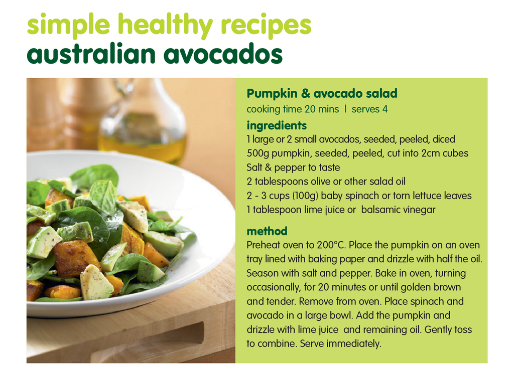 Pumpkin & Avocado Salad